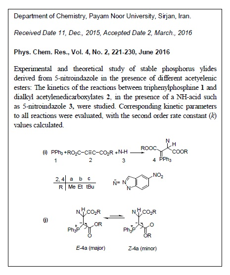 Experimental and Theoretical Study of Stable Phosphorus Ylides Derived from 5-Nitroindazole in the Presence of Different Acetyelenic Esters: Furthure Insight into the Reaction Mechanism