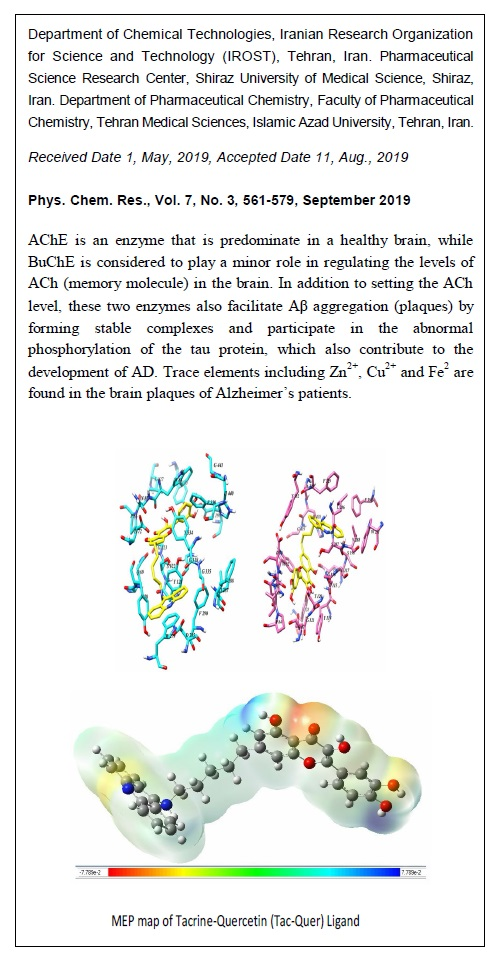Tacrine-Flavonoid Quercetin Hybride as a MTDL Ligand against Alzheimer's Disease with Metal Chelating and AChE, BChE, AChE-induced Aβ Aggregation Inhibition Properties: A Computational Study