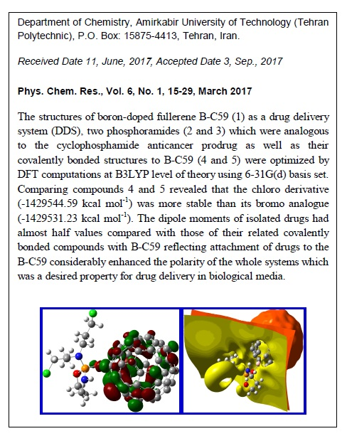 Bonding of Phosphoramides onto B-C59 Nanostructure as Drug Delivery Systems