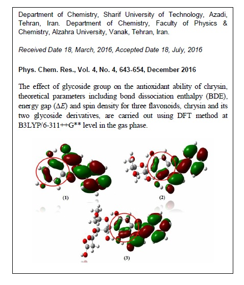 Theoretical Study on Glycosyl Group Effect on Antioxidant Ability of Chrysin Bioflavonoid