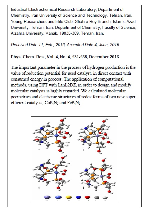 Computational Study on Reduction Potential of [CoP4N2(OH2)2]2+ as a Super-Efficient Catalyst in Electrochemical Hydrogen Evolution