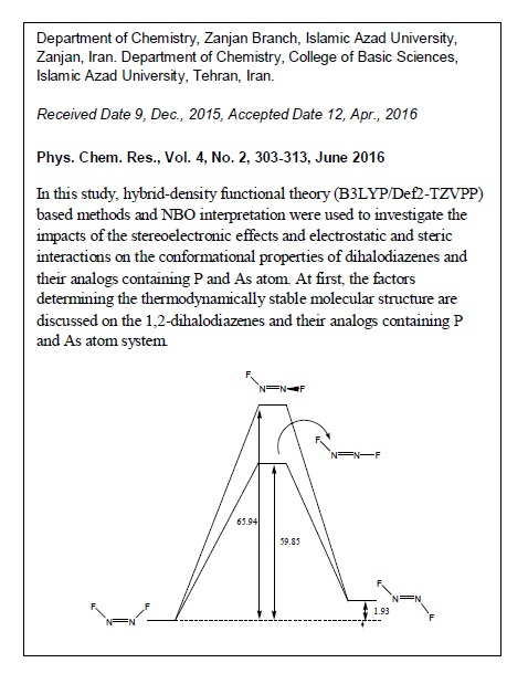 A Computational Study on the Configurational Behaviors of Dihalodiazenes and their Analogues Containing P and As Atoms